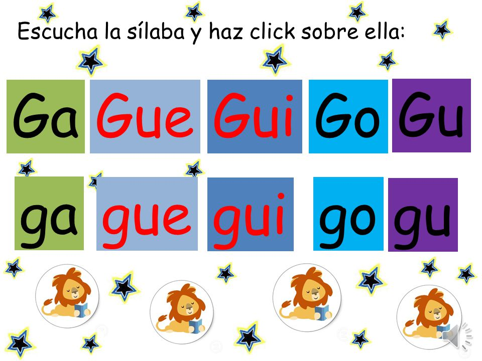 Ga Gue Gui Go Gu ga gue gui go gu