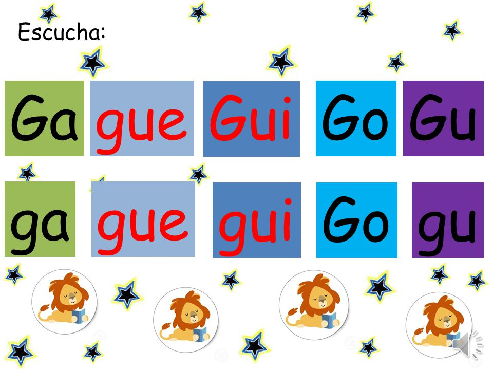 Escucha: Ga gue Gui Go Gu ga gue gui Go gu