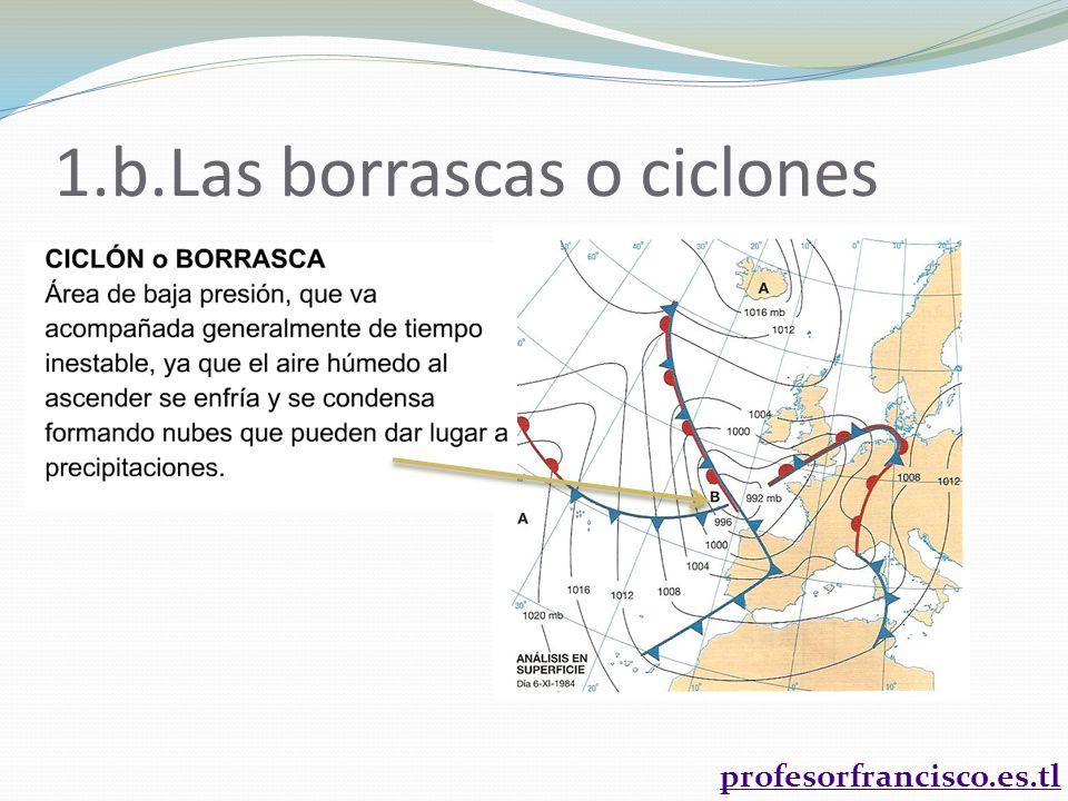 1.b.Las borrascas o ciclones