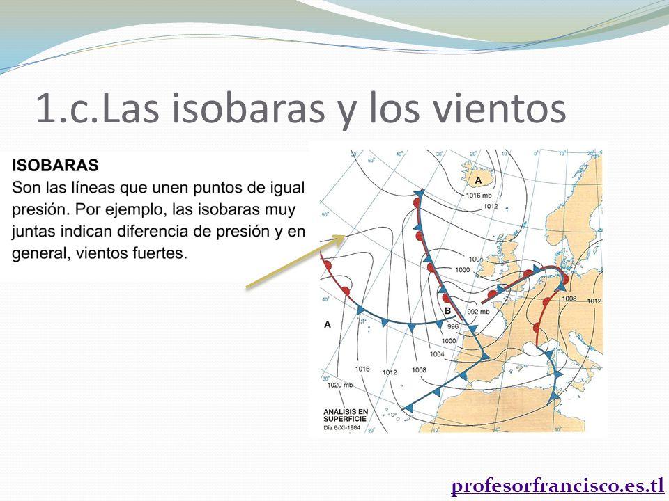 1.c.Las isobaras y los vientos