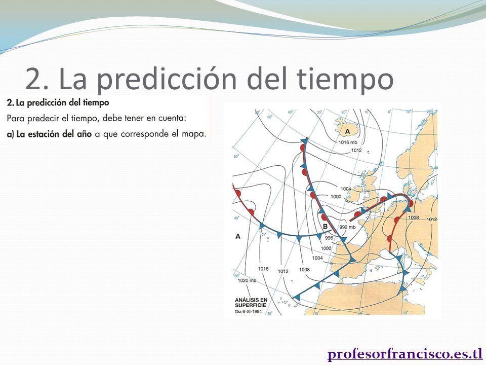 2. La predicción del tiempo