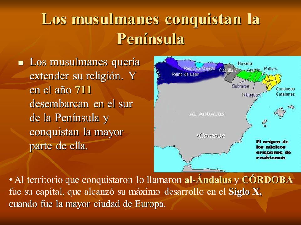 Los musulmanes conquistan la Península