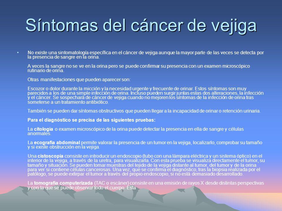 Síntomas del cáncer de vejiga
