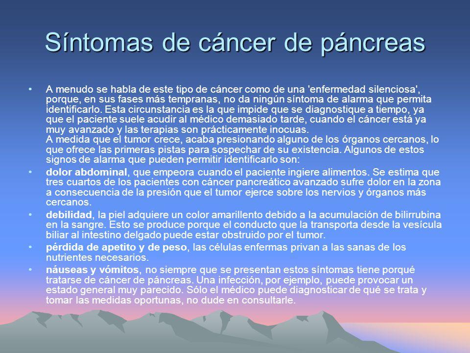 Síntomas de cáncer de páncreas