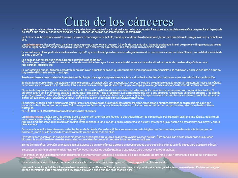 Cura de los cánceres