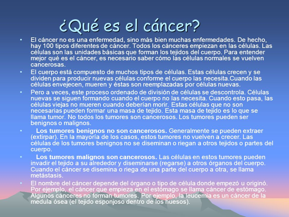 ¿Qué es el cáncer
