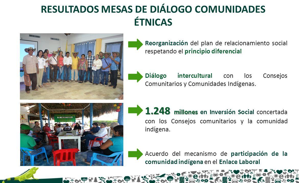 RESULTADOS MESAS DE DIÁLOGO COMUNIDADES ÉTNICAS
