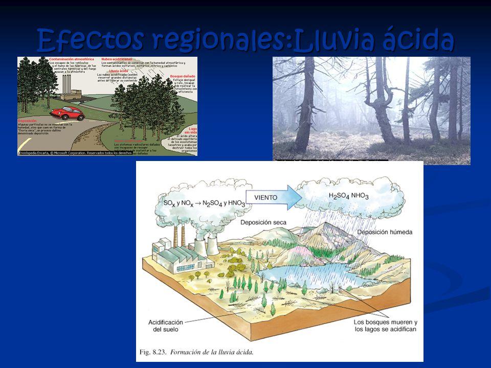 Efectos regionales:Lluvia ácida