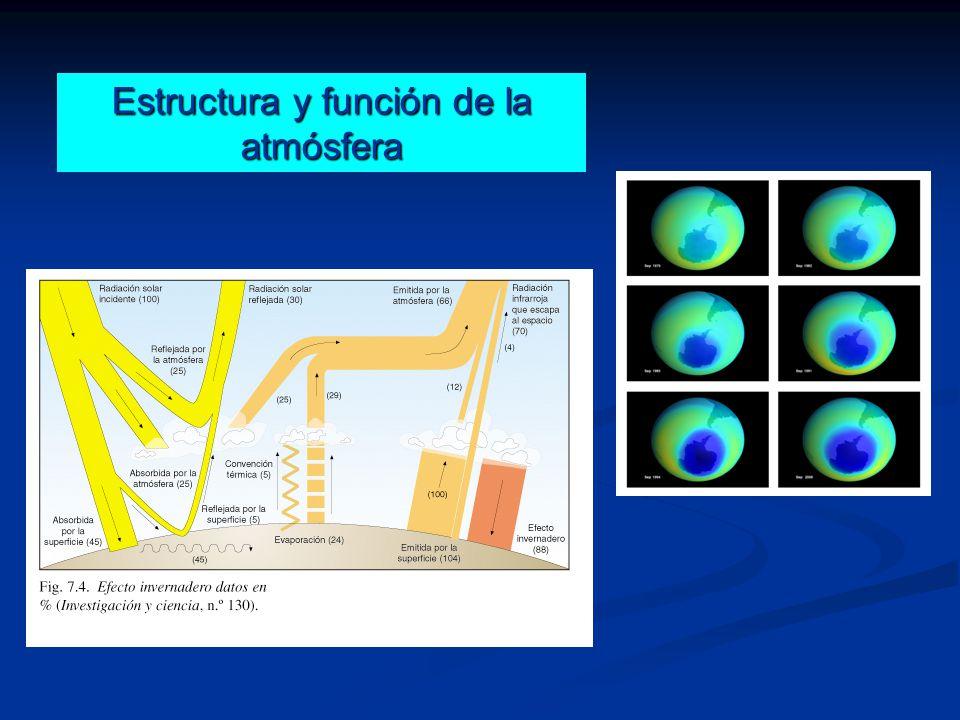 Estructura y función de la atmósfera
