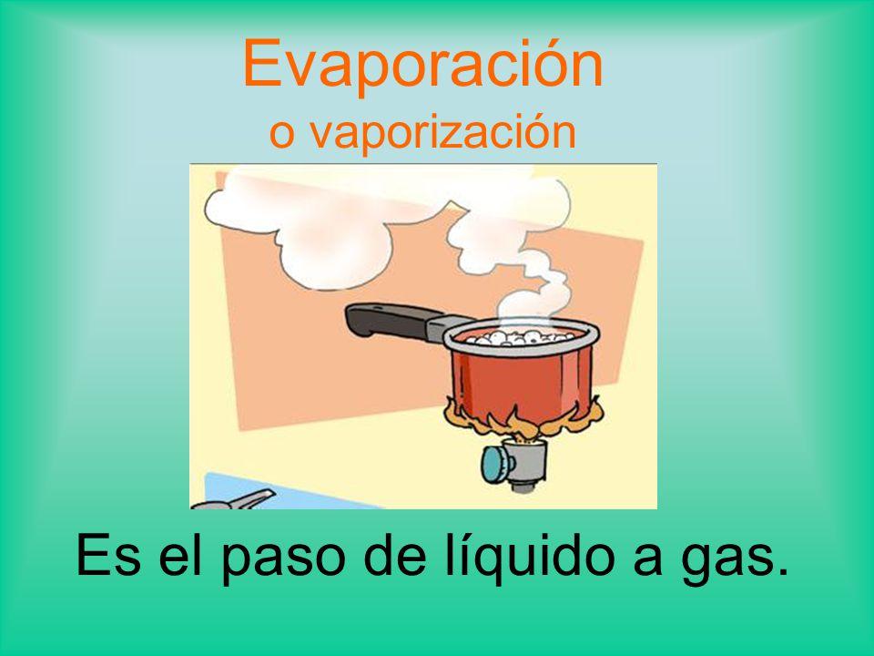 Evaporación o vaporización