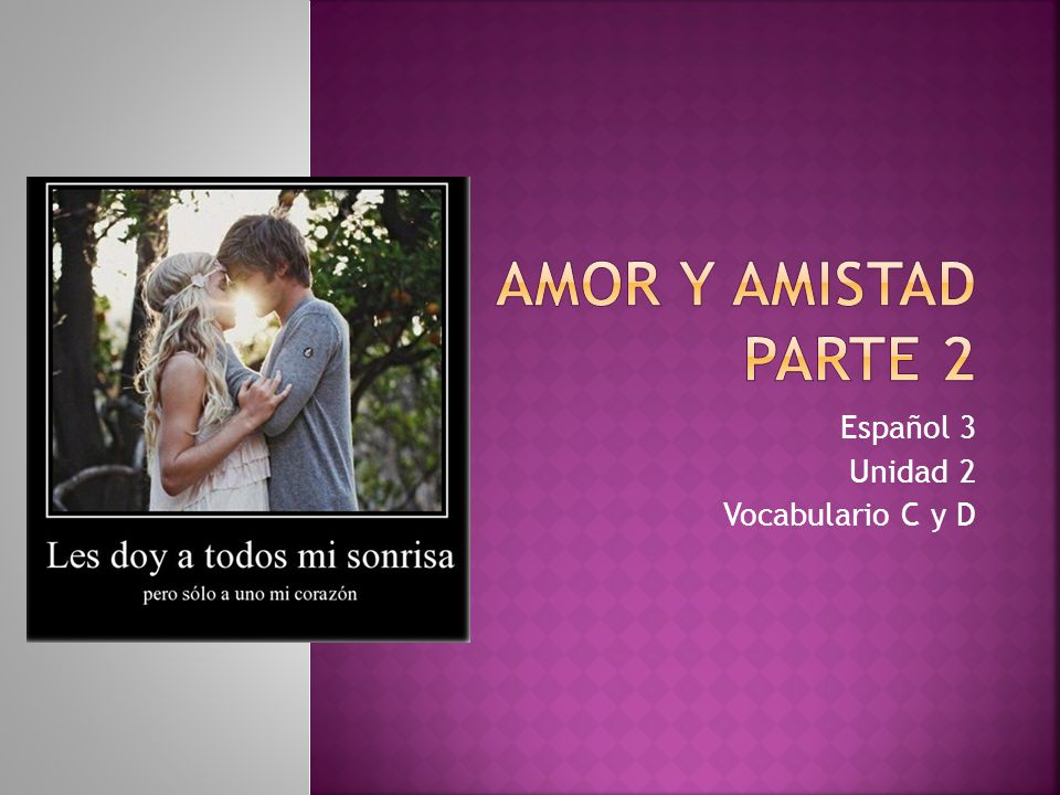 Español 3 Unidad 2 Vocabulario C y D