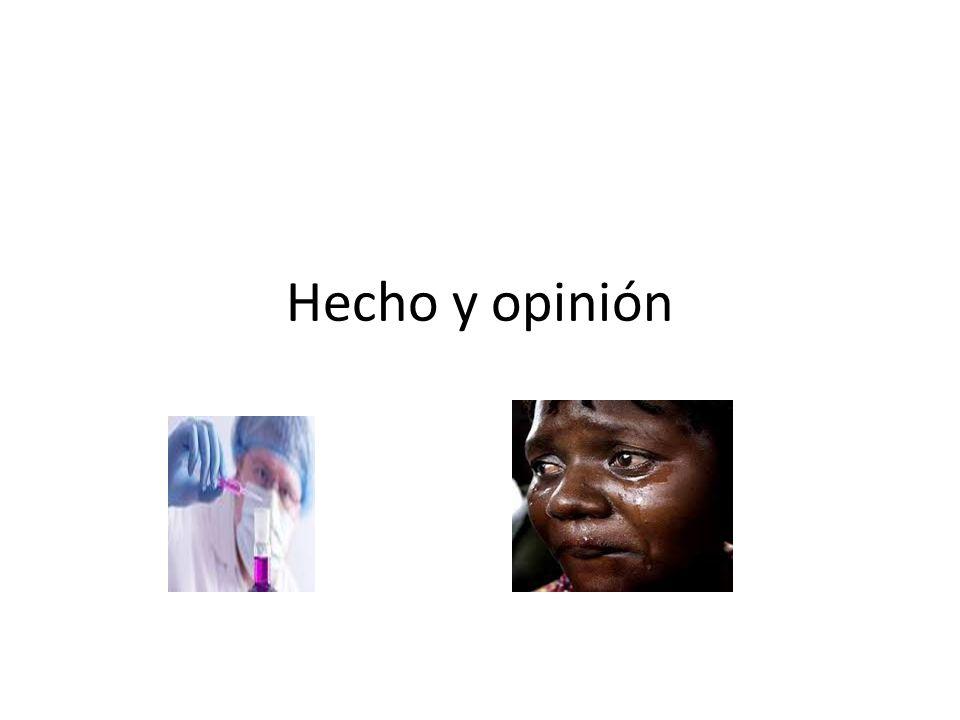 Hecho y opinión