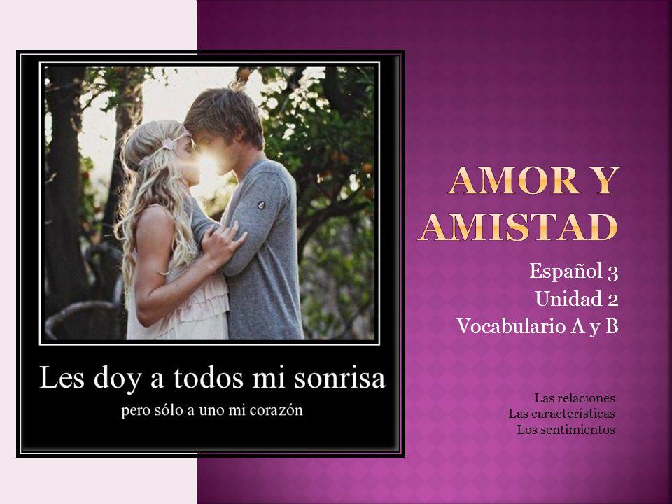 Español 3 Unidad 2 Vocabulario A y B