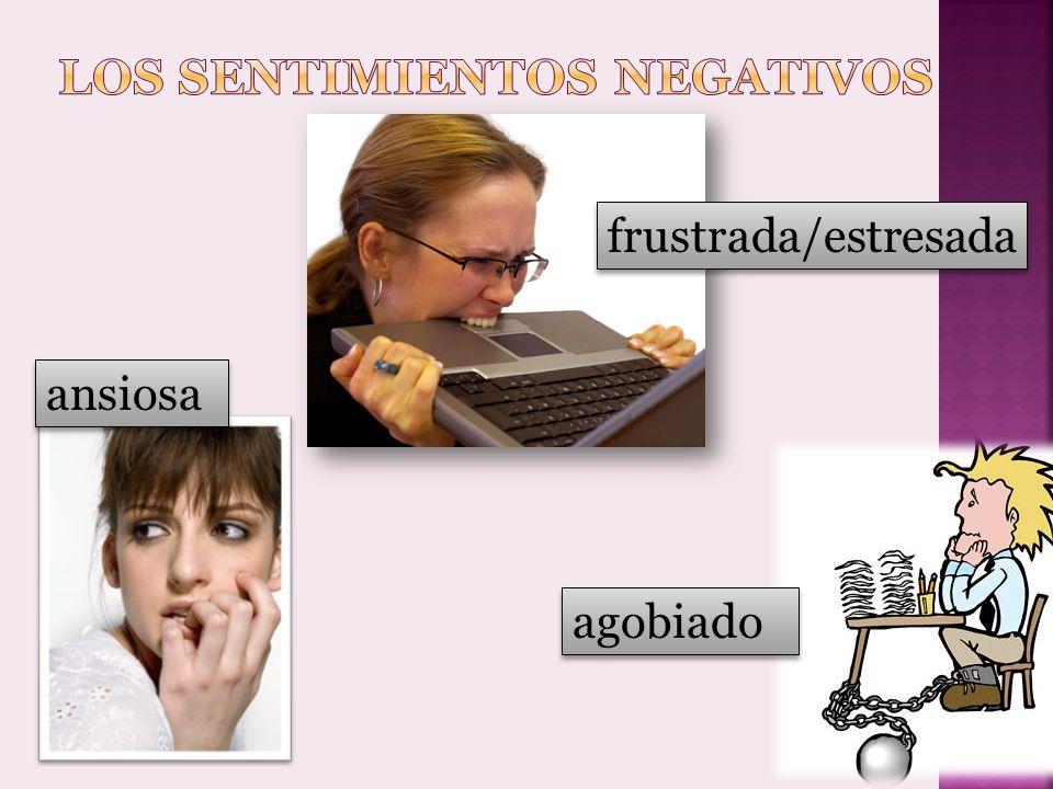 Los sentimientos negativos