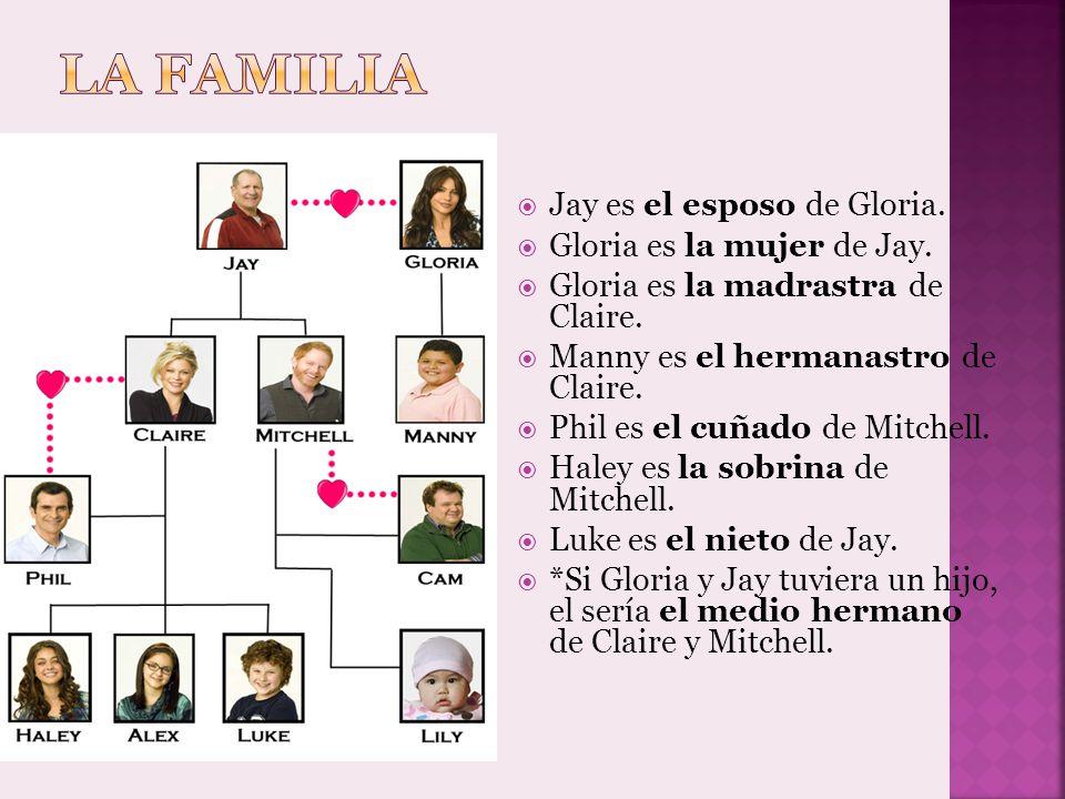 La familia Jay es el esposo de Gloria. Gloria es la mujer de Jay.