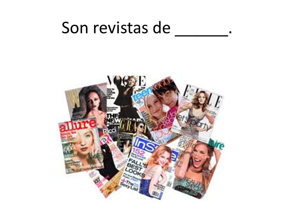 Son revistas de ______.