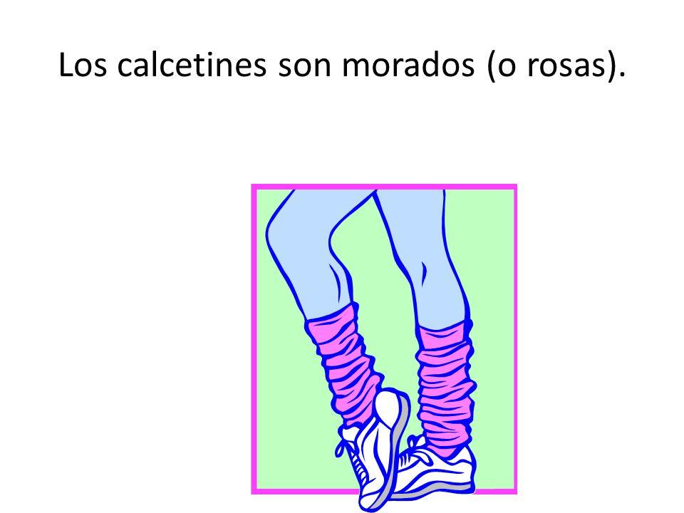 Los calcetines son morados (o rosas).