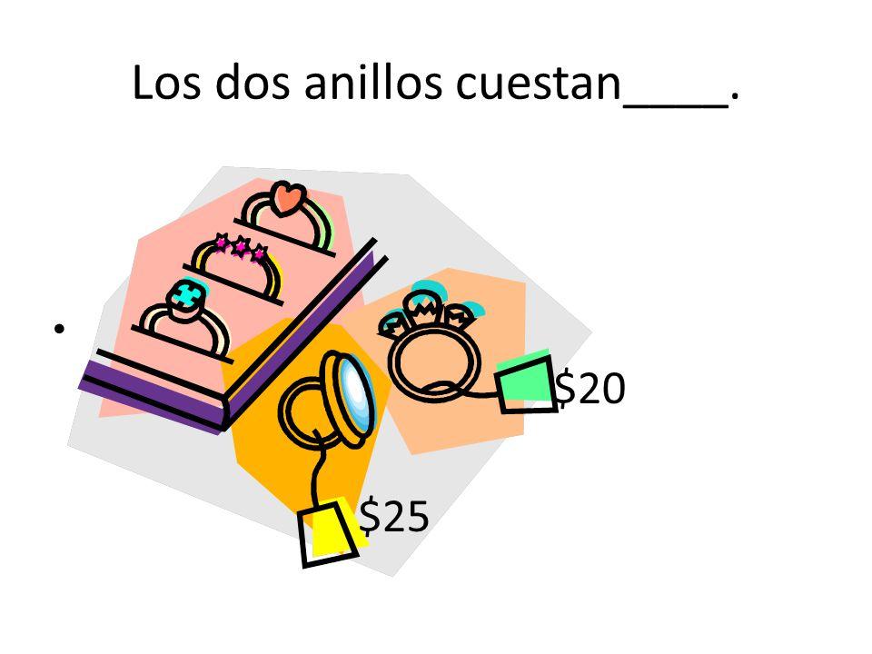 Los dos anillos cuestan____.