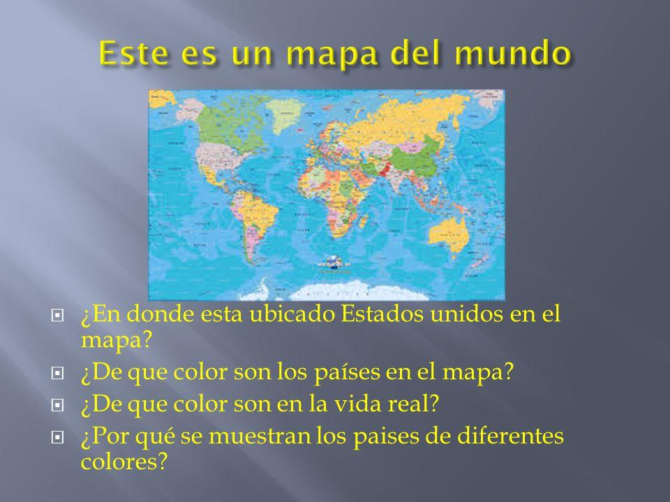 Este es un mapa del mundo