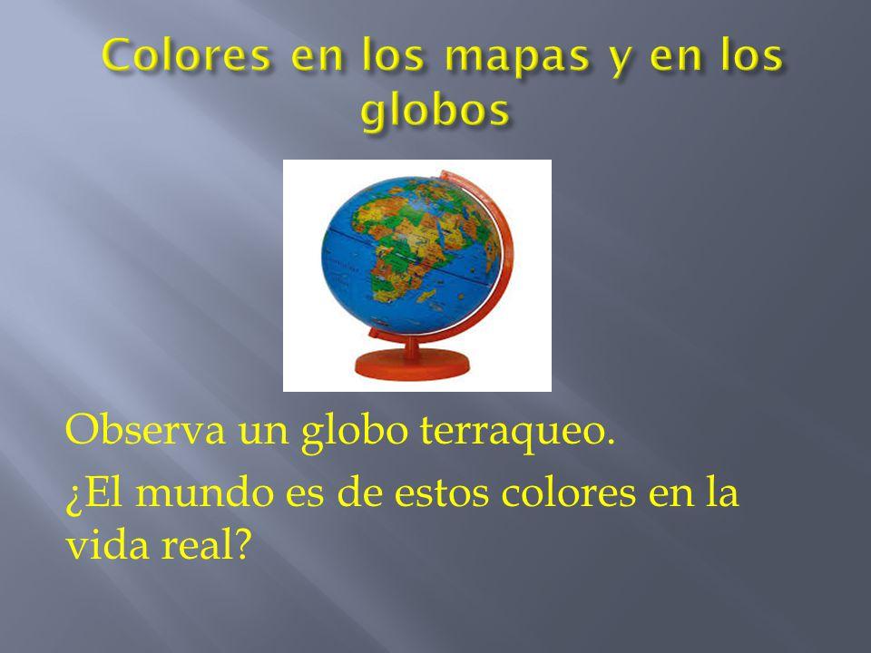 Colores en los mapas y en los globos