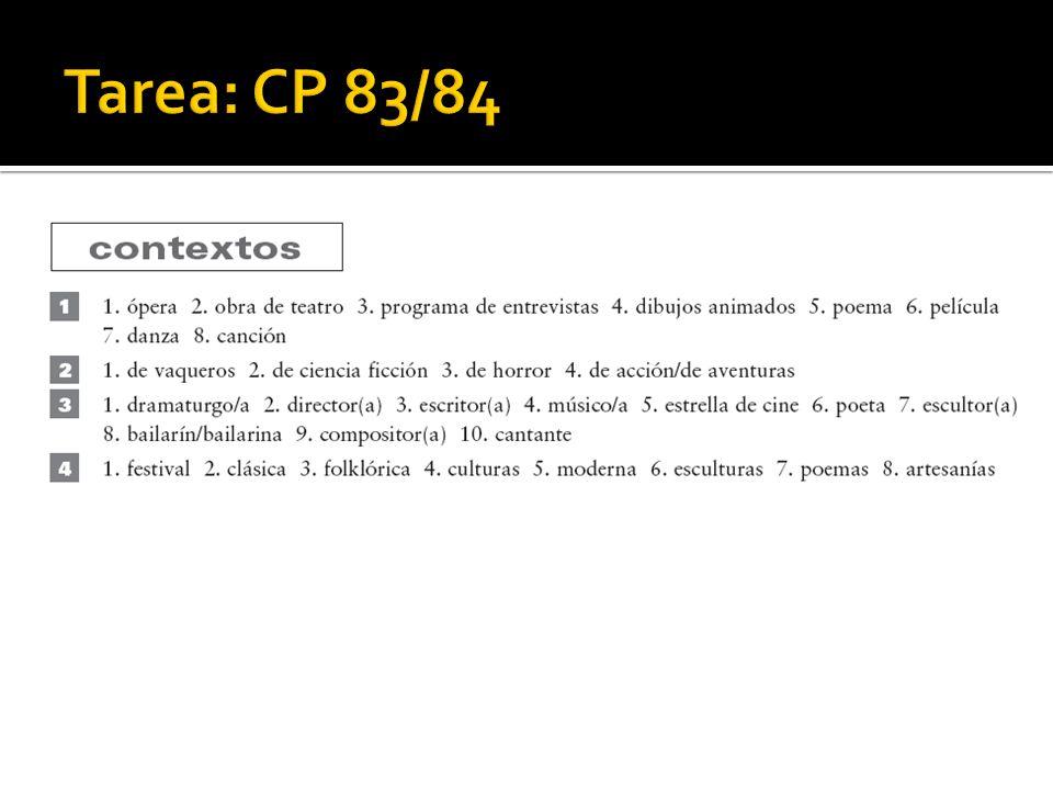 Tarea: CP 83/84