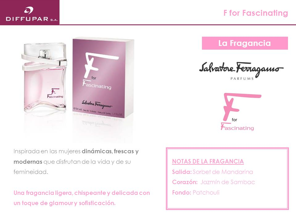 F for Fascinating La Fragancia