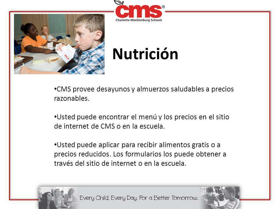 Nutrición CMS provee desayunos y almuerzos saludables a precios razonables.