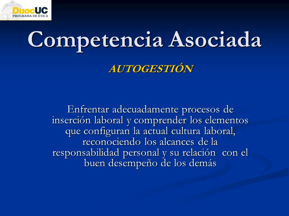 Competencia Asociada AUTOGESTIÓN