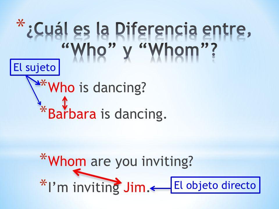 ¿Cuál es la Diferencia entre, Who y Whom