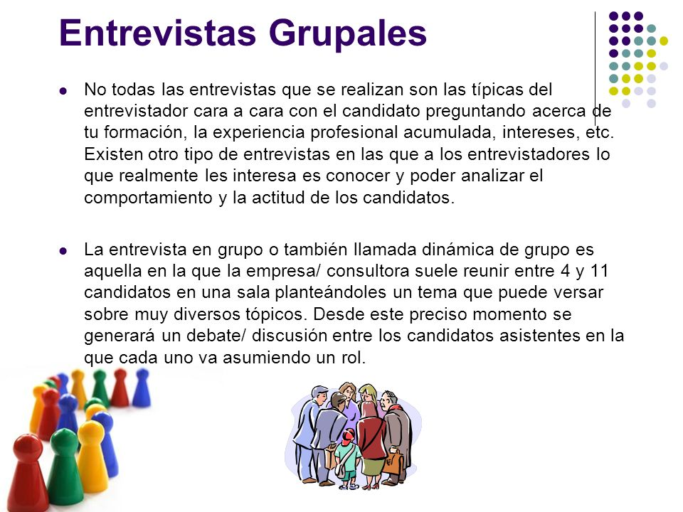 Entrevistas Grupales