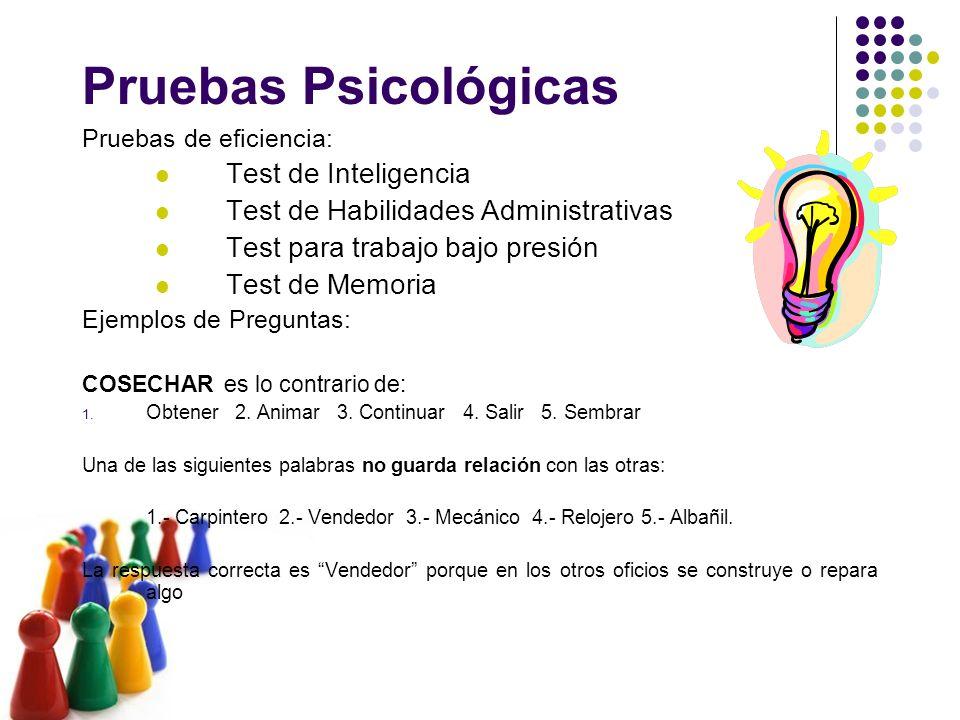 Pruebas Psicológicas Test de Inteligencia