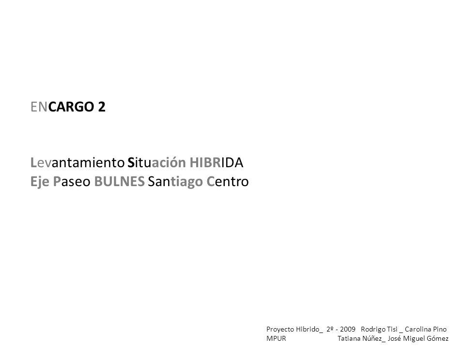 Levantamiento Situación HIBRIDA Eje Paseo BULNES Santiago Centro
