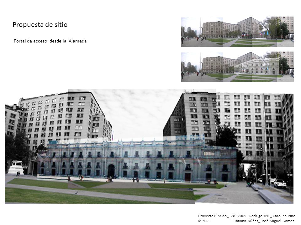 Propuesta de sitio ·Portal de acceso desde la Alameda