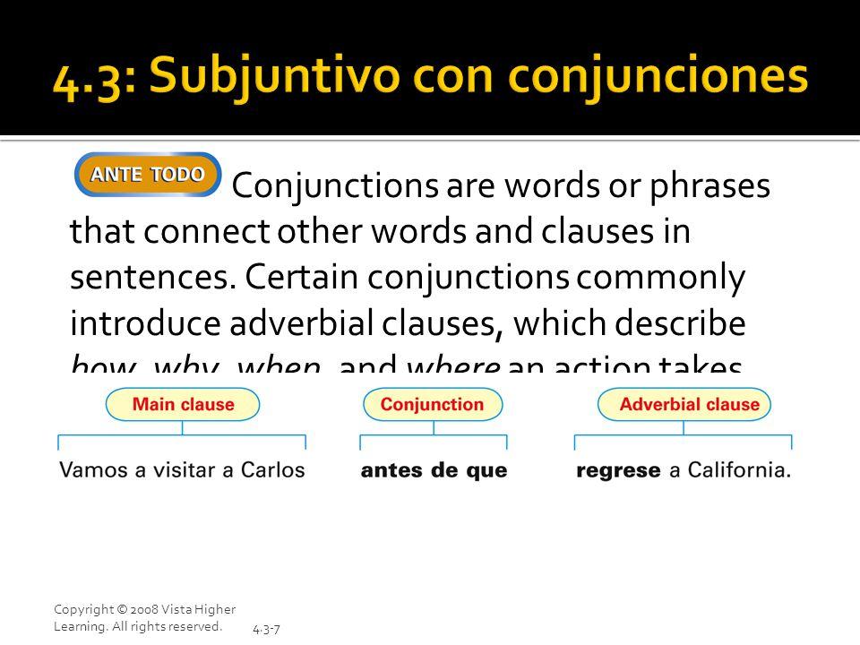 4.3: Subjuntivo con conjunciones
