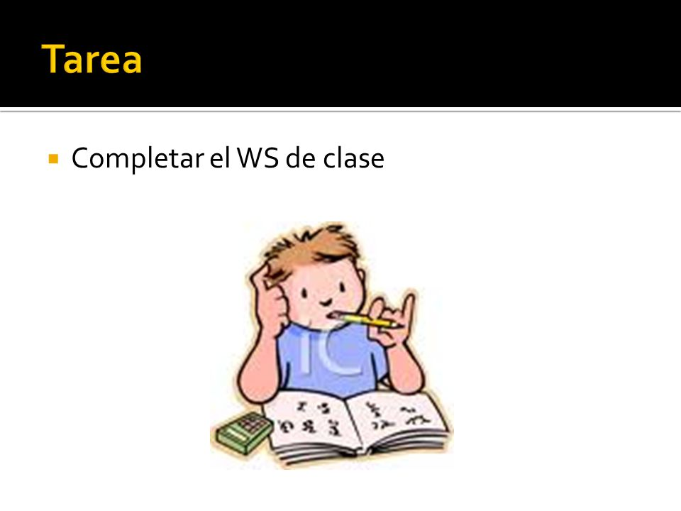 Tarea Completar el WS de clase