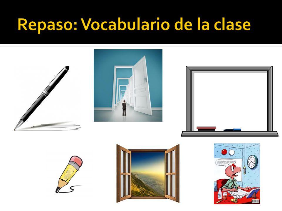 Repaso: Vocabulario de la clase