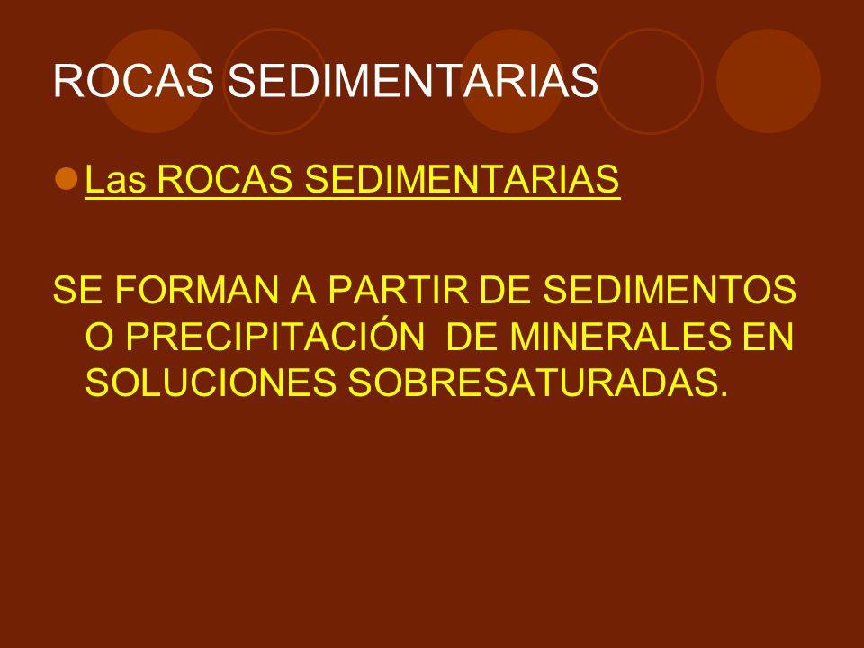 ROCAS SEDIMENTARIAS Las ROCAS SEDIMENTARIAS