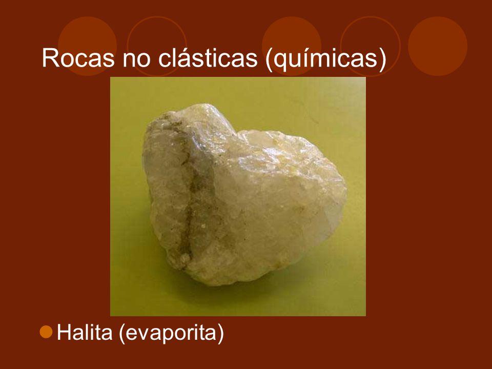 Rocas no clásticas (químicas)