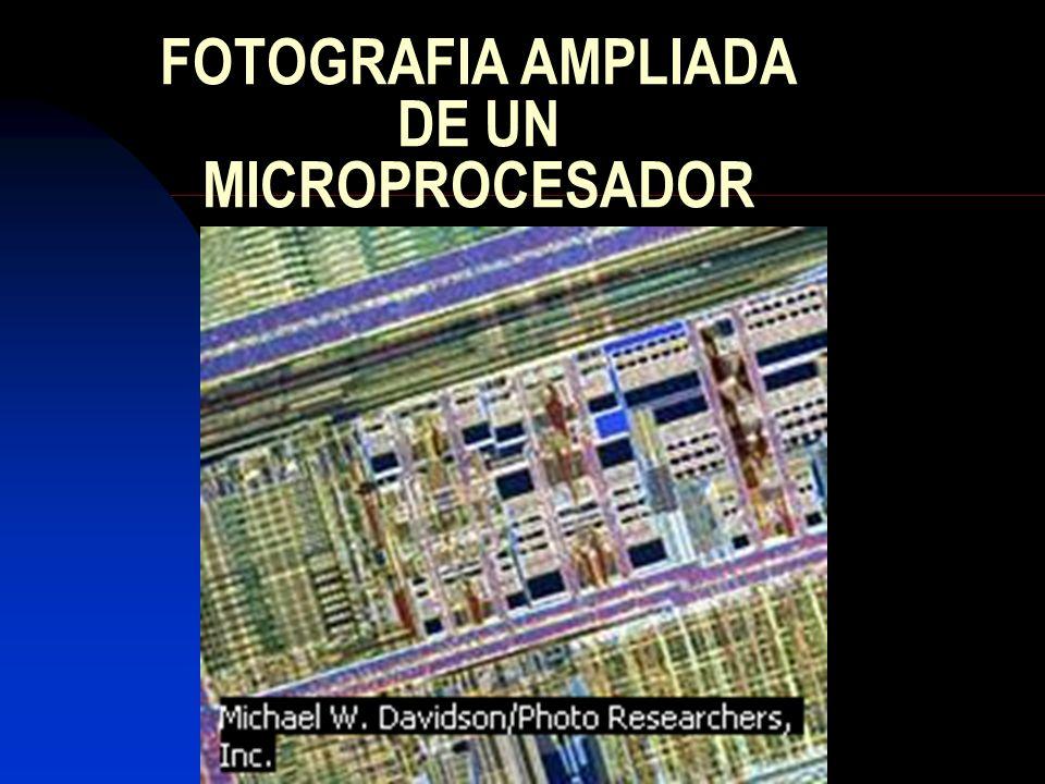 FOTOGRAFIA AMPLIADA DE UN MICROPROCESADOR