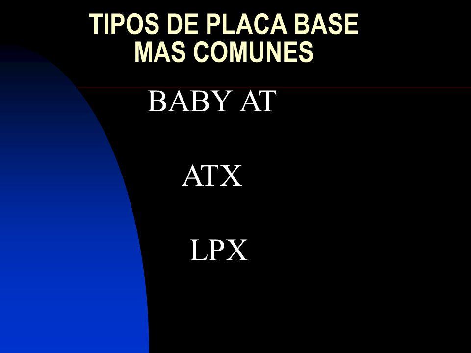 TIPOS DE PLACA BASE MAS COMUNES