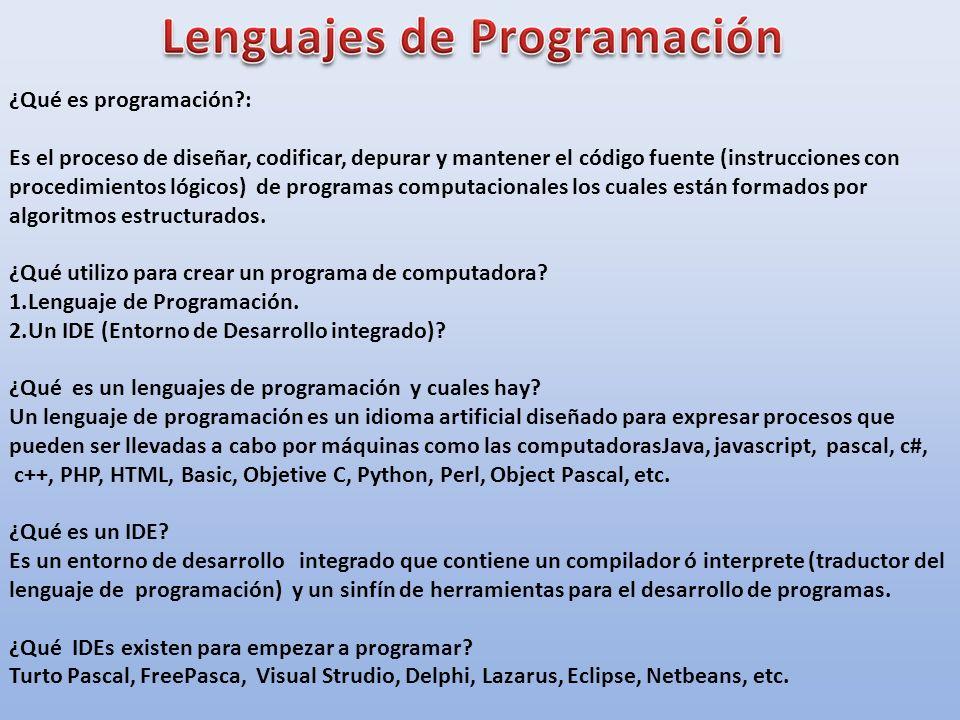 ¿Qué es programación :