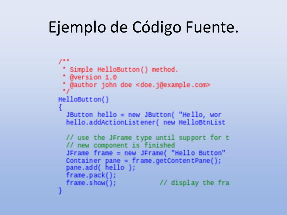 Ejemplo de Código Fuente.