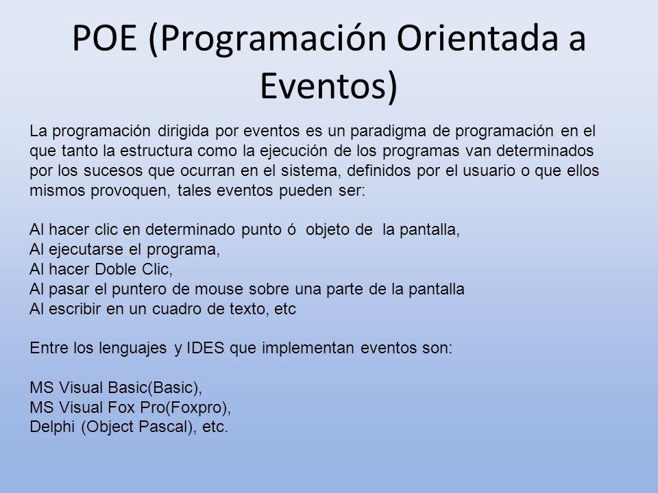 POE (Programación Orientada a Eventos)
