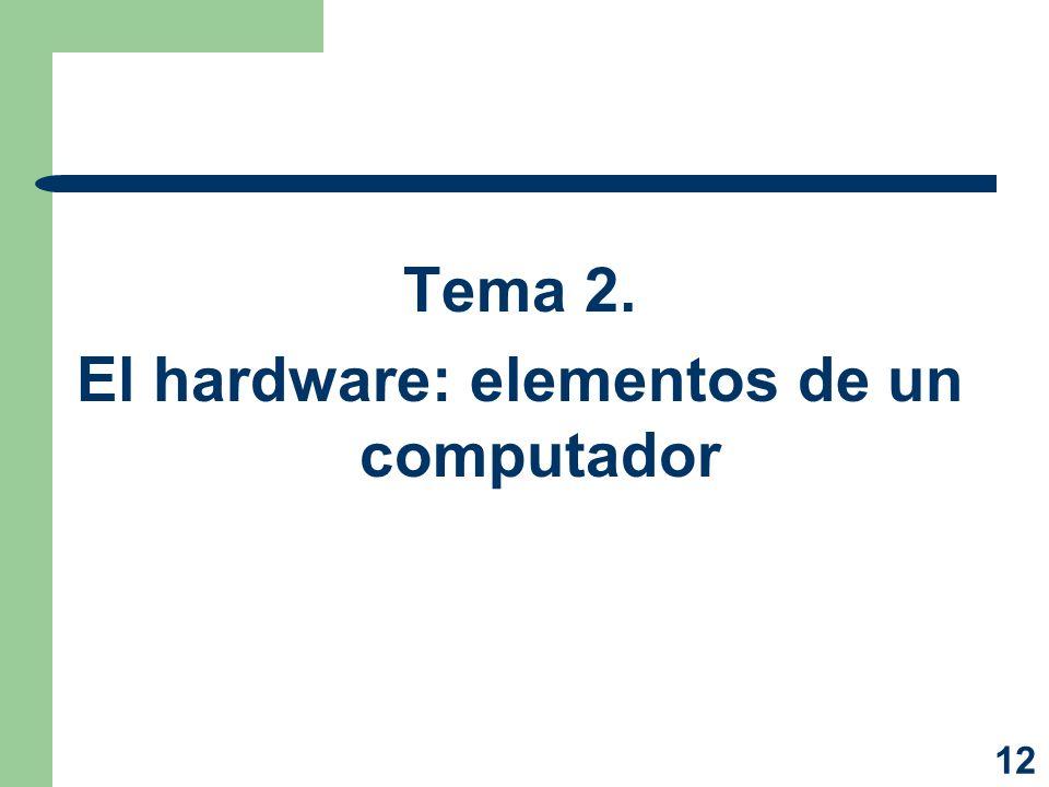 El hardware: elementos de un computador