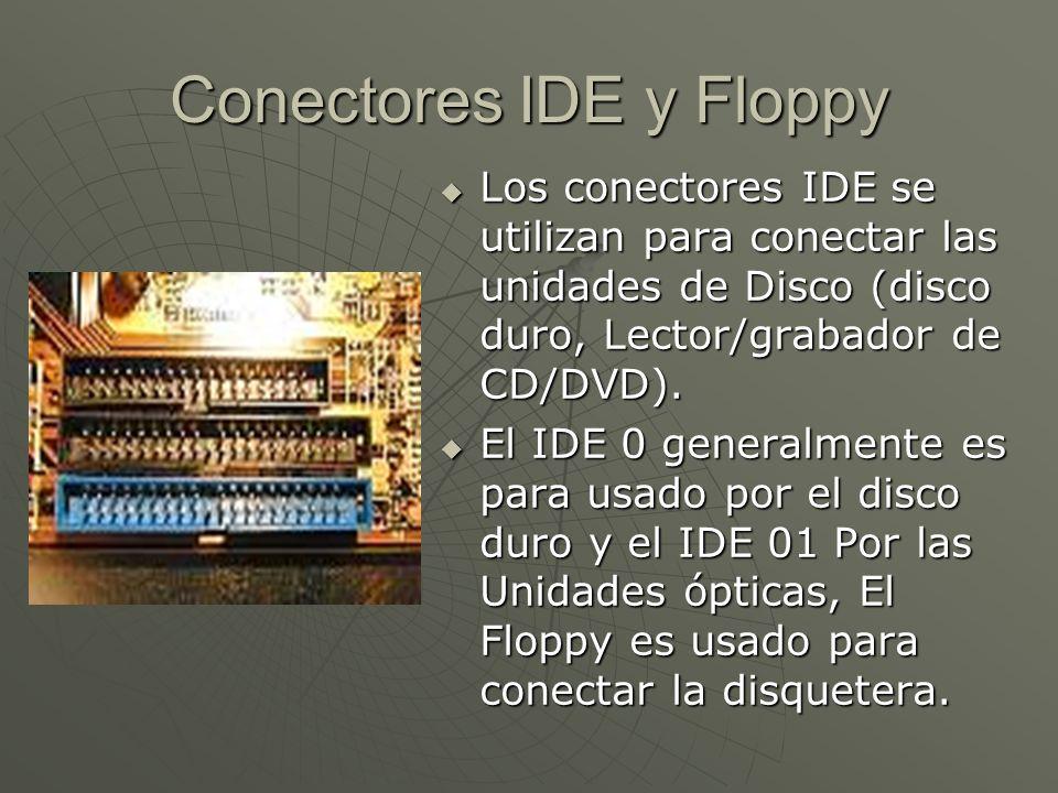 Conectores IDE y Floppy