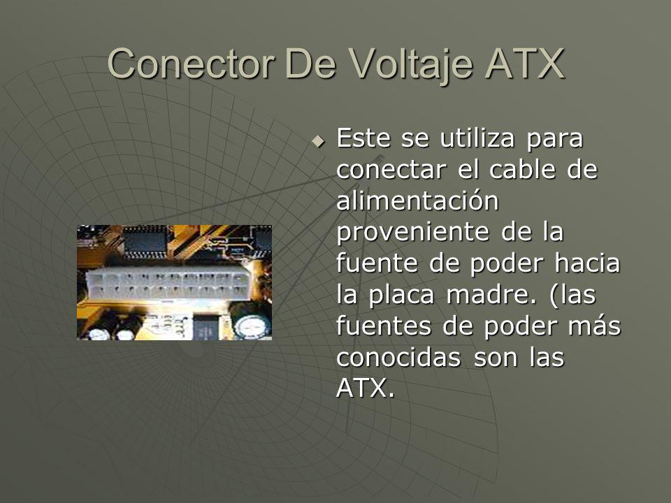 Conector De Voltaje ATX