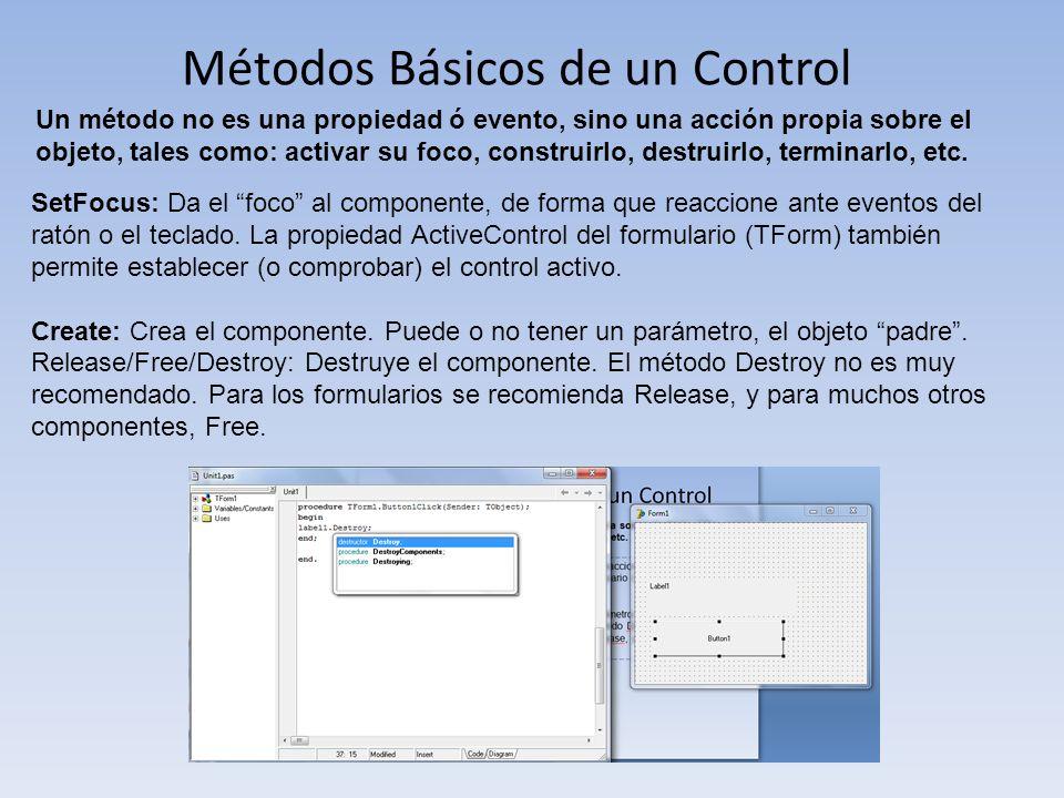Métodos Básicos de un Control