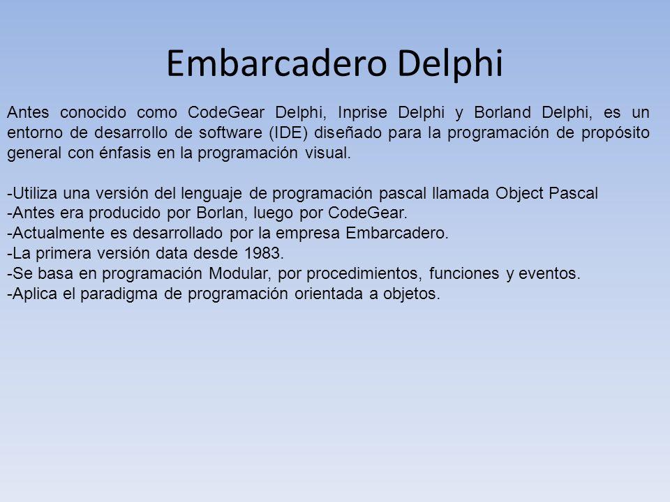 Embarcadero Delphi