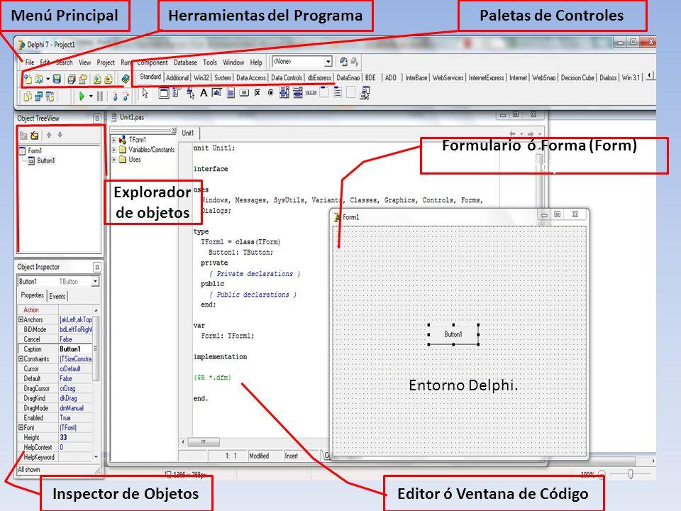 Herramientas del Programa Editor ó Ventana de Código
