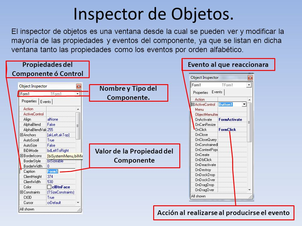 Inspector de Objetos.